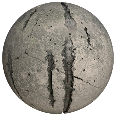 Dirty concrete material ball