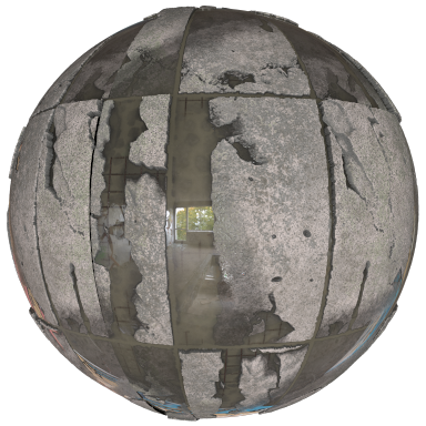 Wet concrete matball