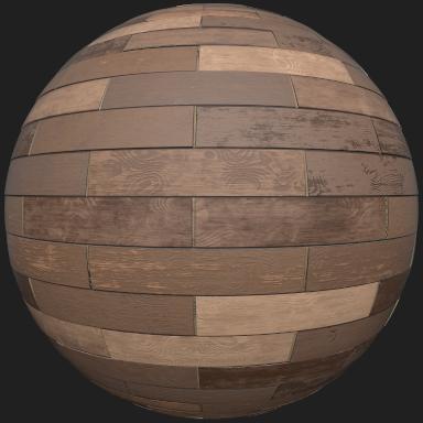 Oak boards mat ball